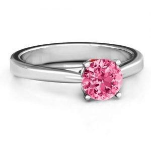Royal Tulip Ring with Bezel Collar Stone