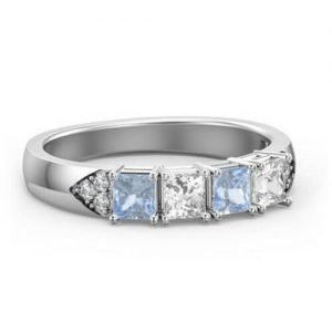 Classic Princess Cut Ring with Accents
