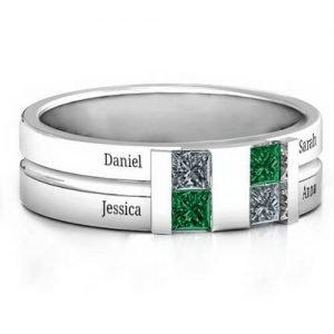 Leonidas Grooved Men's Ring