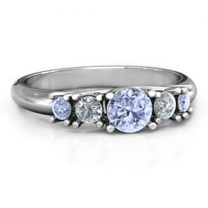 5-Stone Graduated Ring