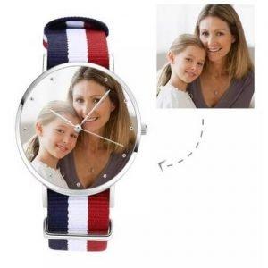 Unisex Photo Watch Color Nylon Strap